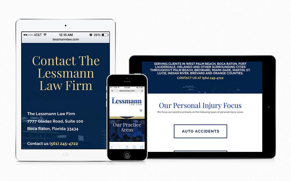 the lessmann law firm | attorney web design